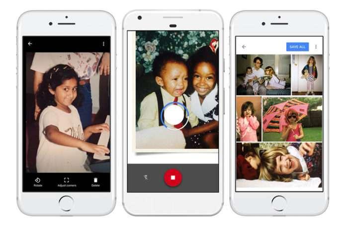 Google, yeni albümler için PhotoScan uygulamasını piyasaya sürdü.