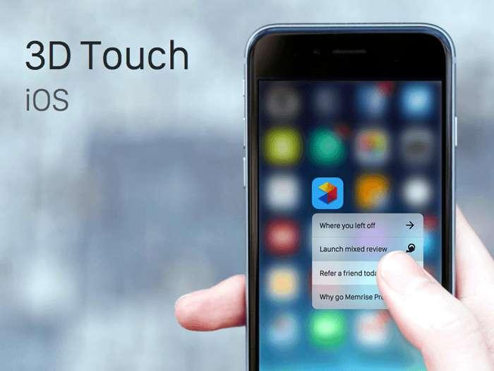 3D Touch Apple'ın en önem verdiği özelliklerin başında geliyor.