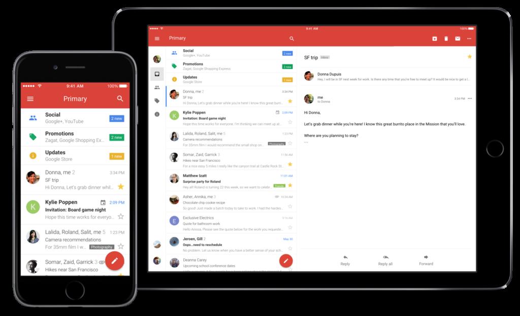 Gmail elektronik posta uygulaması şimdi yepyeni bir görünümüyle sizlerle.