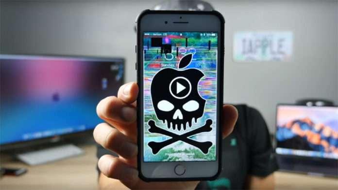 Söz konusu MP4 linke tıklanınca iPhone, cihazlar kilitleniyor.