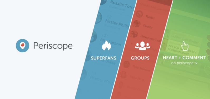 Periscope yeni güncellemesi ile kullanıcılarına üç yeni seçenek sundu.