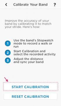 Jawbone fitness takip cihazını kalibre etme yöntemi