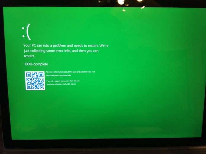 Windows'un meşhur mavi ekranı geliştiriciler için yeşil oluyor!