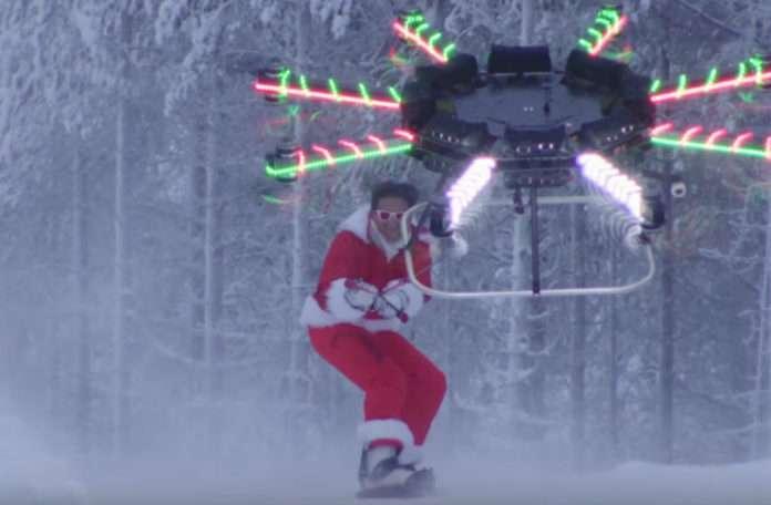 Neistat son videosunda drone yardımı ile snowboard yapıyor