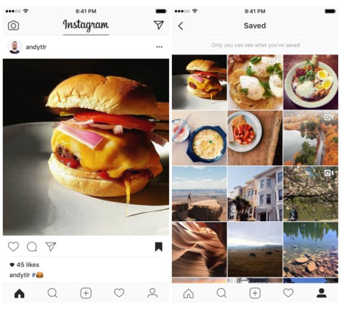 Instagram gönderilere 'Kaydet' özelliğini devreye soktu