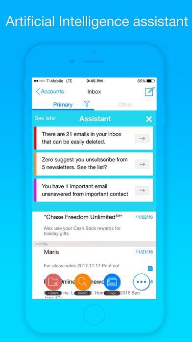 Zero mobil e-posta uygulaması