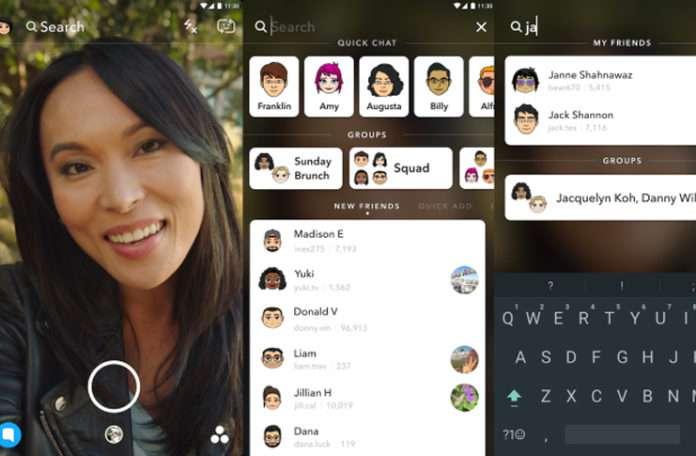 Snapchat, navigasyonu kolaylaştırmak için evrensel arama başlattı