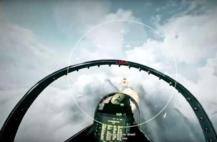 Görüntülerdeki jetin eski video oyunlarından alındığı fark edildi