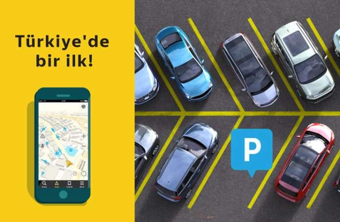 Yandex Navigasyon'da güncellenen haritalarda park yerleri mevcut