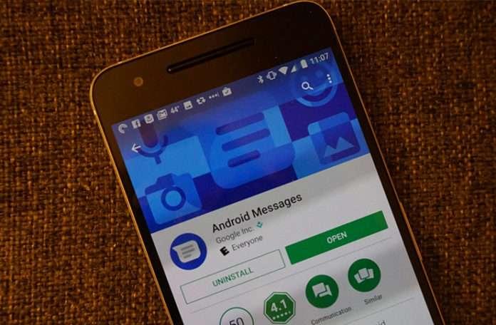 Google Messenger olan uygulamanın yeni ismi Android Messages