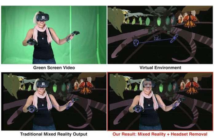 VR gözlüğün ardındaki yüz resmini