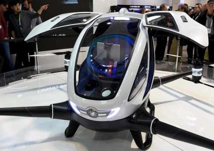 drone'un yaklaşık 100 kiloya kadar yolcu