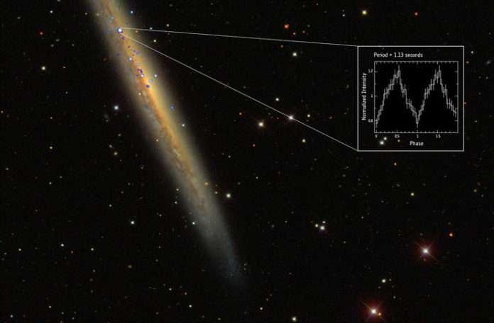 NGC 5907 X-1 yıldızı bir öncekinden tam 1000 kat daha parlak