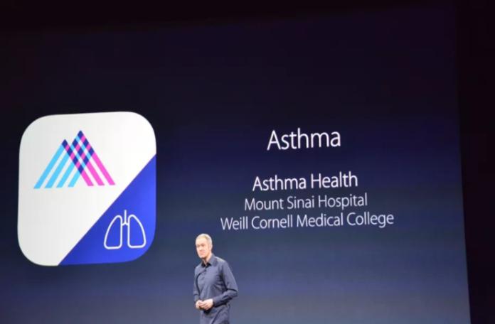 Apple'ın AraştırmaSet'i platformu ve astım hastaları