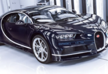 Bugatti firması bugün muhteşem Chiron süper arabalarının