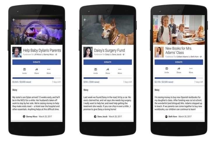 Facebook kişisel ihtiyaçlara yönelik bağış uygulamasını başlatıyor