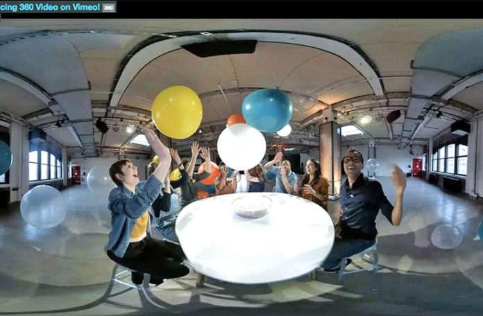 Vimeo, 360 derece formatında video desteğiyle Youtube ve Facebook'a rakip olarak geldi