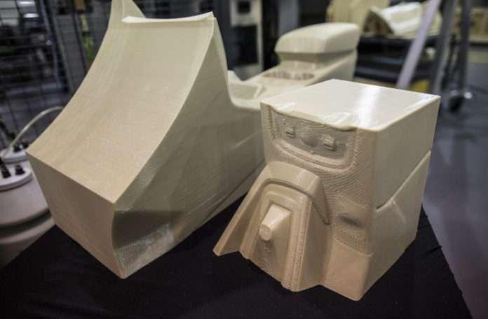 Ford araba üzerindeki rüzgarlık, 3D yazıcı