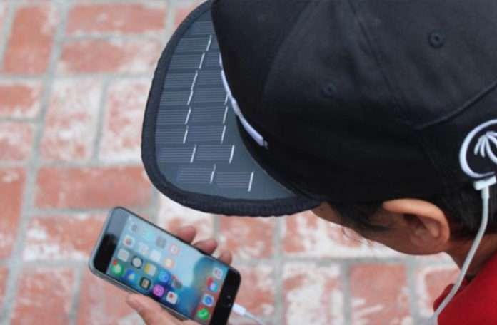 Giyilebilir teknoloji ürünü güneş panelli şapka SolSol.