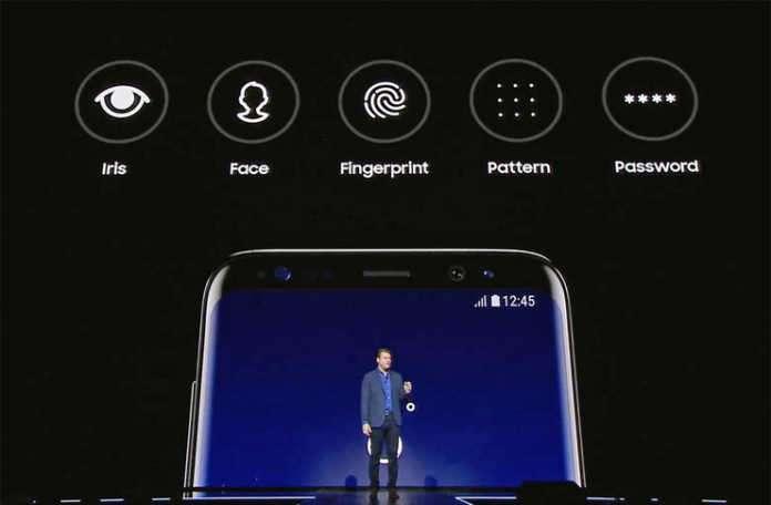 Galaxy S8 yüz ve parmak izi