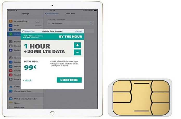 Apple SIM için veri sağlayan firmalardan biri olan AlwaysOnline