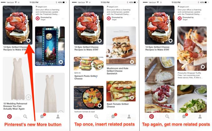 Pinterest 'Daha Fazla Göster' butonu