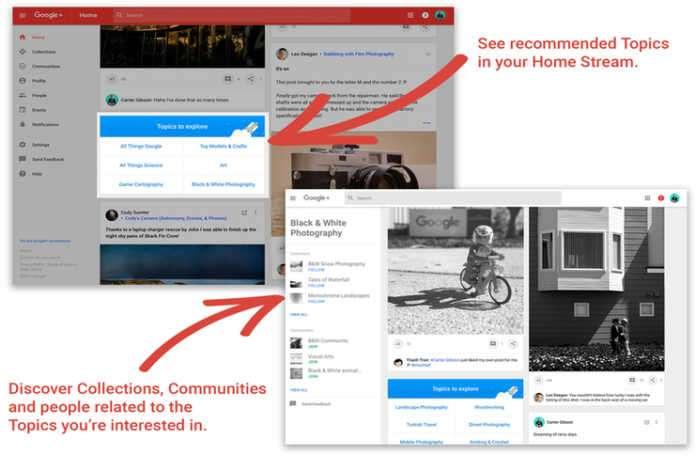 Google+'ya göz attığınızda