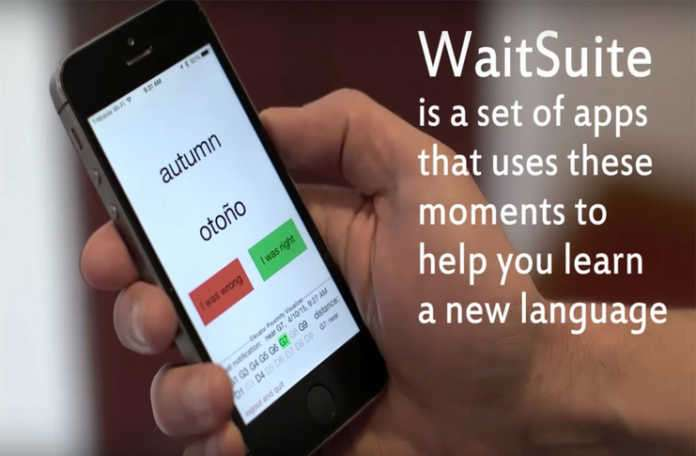 WaitSuite adlı uygulama ile bekleme anlarınızda yeni bir dil öğrenmenizi