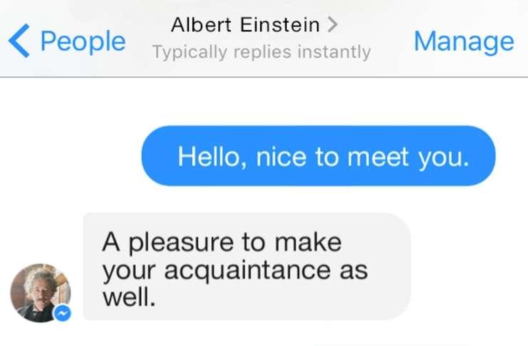 Einstein'la Facebook Messenger'da sohbet edin