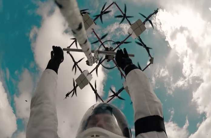 Aerones firması insan taşıyan drone