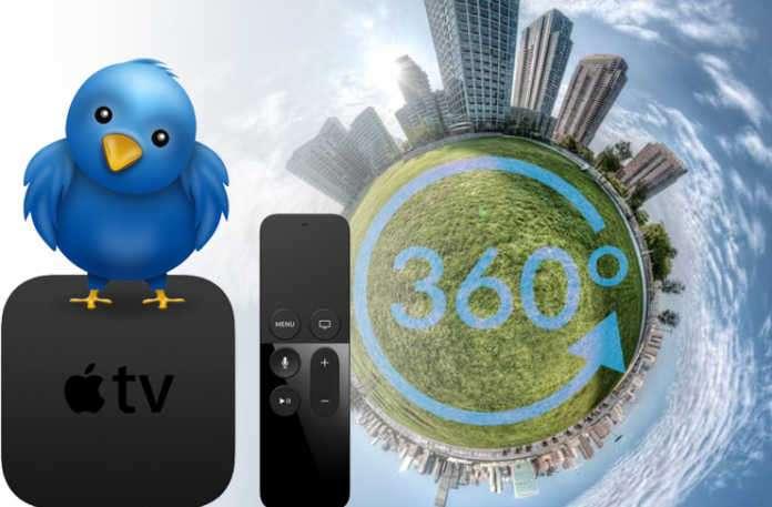 Twitter çarşamba günü Apple TV'ye 360 derece canlı video ve Pericope Global Map dahil olmak üzere bir kaç yeni özellik getirdi. iOS kullanıcıları, hesapları ile Apple TV üzerinden şu anda bağlanabilir.