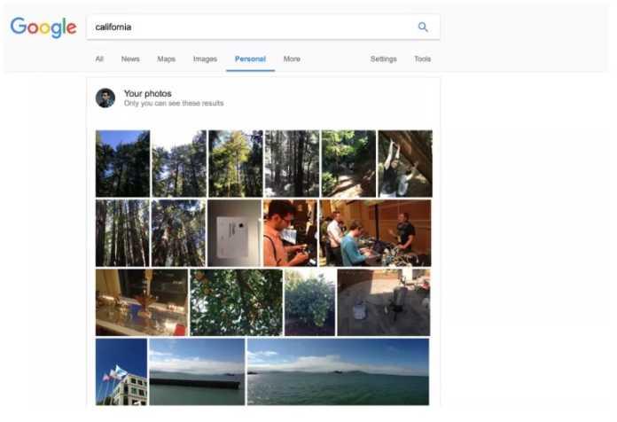Google'Kişisel' sekmesi