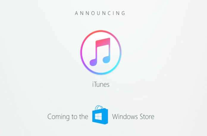 Apple iTunes'ü Windows Mağazası'na