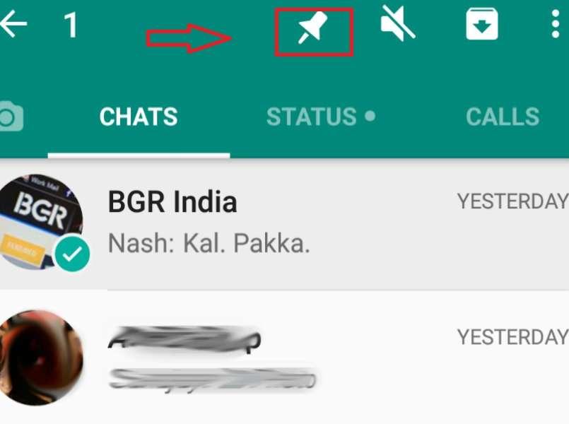WhatsApp Pin Sohbet Sabitleme