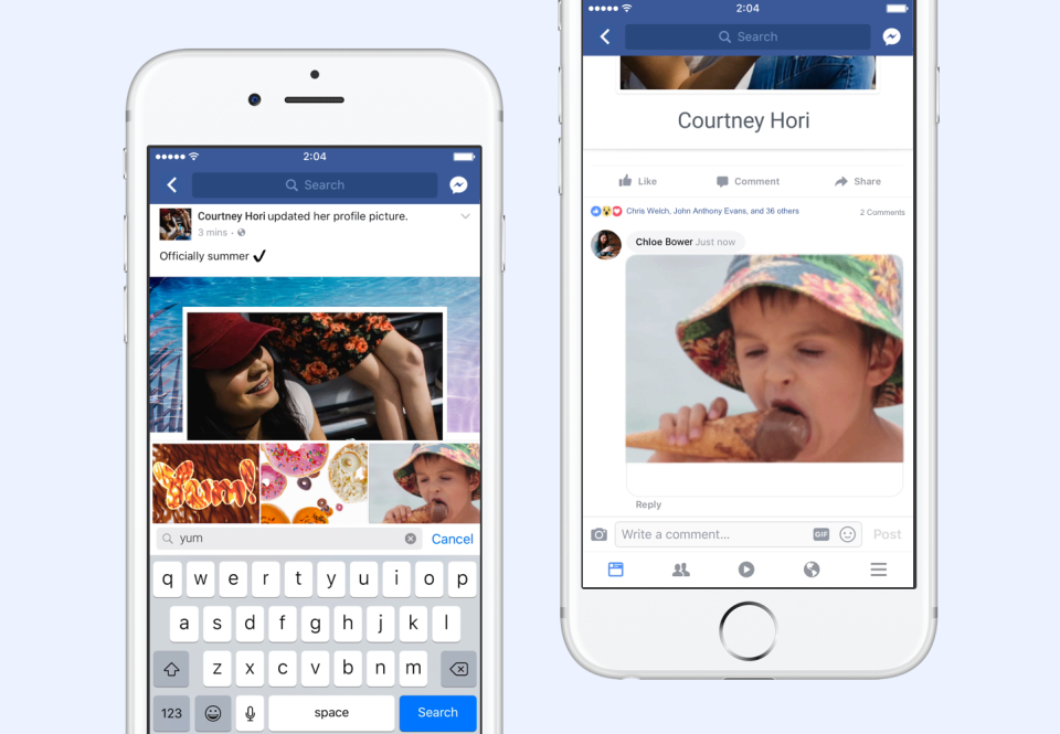 Facebook, GIF'lerle yıllar boyunca garip bir ilişki yaşamıştır.