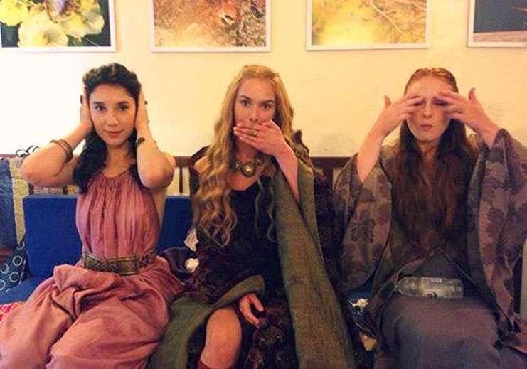 Game Of Thrones'un eğlenceli komik kamera arkası görüntüleri