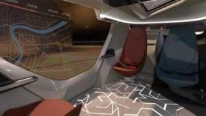 InMotion konseptinde direksiyon simidi hatta gösterge paneli bile yok.