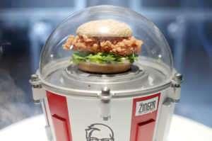 Tavuk sandviç Zinger, 21 Temmuz'da uzaya fırlatılacak