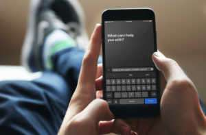 Artık Siri'ye soracağınız soruyu yazabilirsiniz.