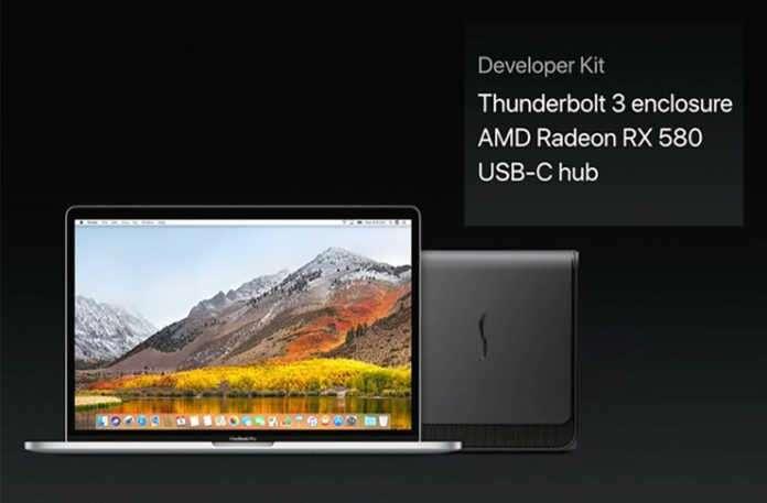 Thunderbolt 3 ile bağlanan AMD Radeon RX 580 çok sevilecek.