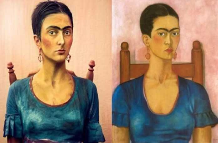 Makyajla ünlü portreleri canlandırdı
