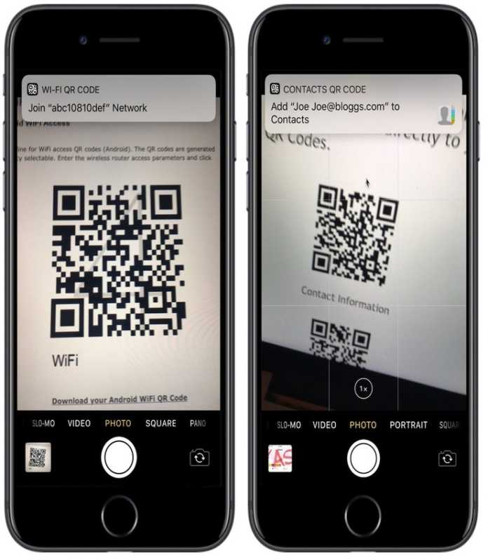 QR kod iOS 11