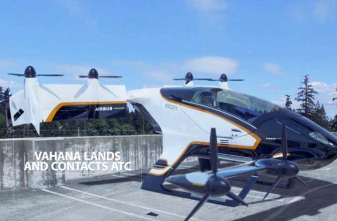 Uçan taksi Vahana haftaya Paris Havacılık Fuarı'nda sergilenecek.